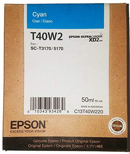 Epson T40W220 Cyan T40W220 Ultrachrome XD2 Cyan High Capacity Cartridge Ink