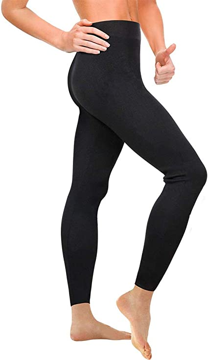 Nheima Pantalon De Sudation Femmes Legging De Sport A Taille Haute En Neoprene Pour Accelerer Transpiration Obtenir Ventre Plat Anti Cellulite Ideal Pour Minceur Fitness Jogging Yoga L Black05 Amazon Fr Sports Et