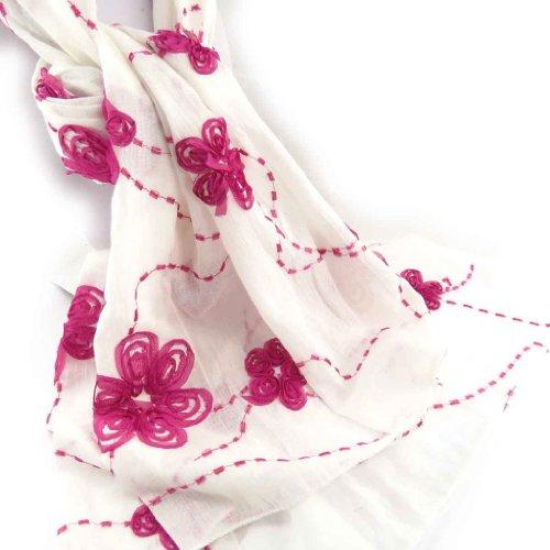 Les Trésors De Lily [J9092] - Echarpe créateur 'Vahiné' rose