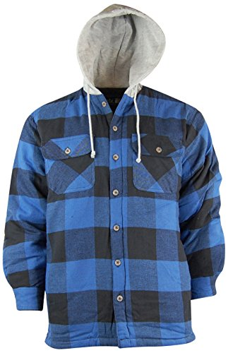 Quilted Lined Hooded Shirt Jacket - 6