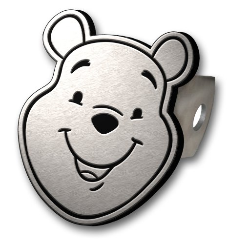 Winnie The Pooh Brushed Aluminum Hitch Plug by Plasticolor