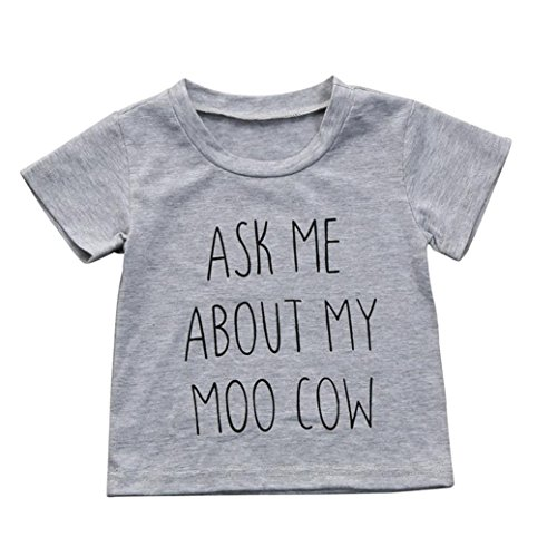 Moo Cow Little (JPOQW Toddler Kids Boys Ask Me About My Moo Cow Short Sleeve Tops T-Shirt Blouse (Gray, 4 Years Old))