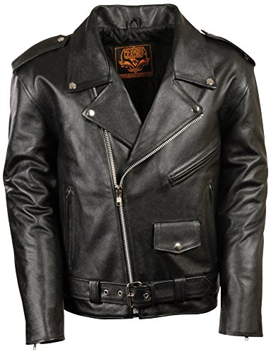 Milwaukee Men's Motorcycle Jacket (Black, Large) ()