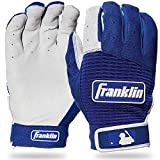 Franklin Sports Pro Classic Batting Gloves - Pearl/Royal - Youth Medium