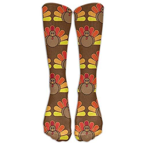 Holuday Thigh High Socks Thanksgiving Turkey Womans Mens Cute Champion Athletic Leggings Knee High Stockings for Dress…