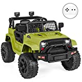 Best Choice Products 12V Kids Ride On Truck Car w/Parent Remote Control, Spring Suspension, LED Lights - Green