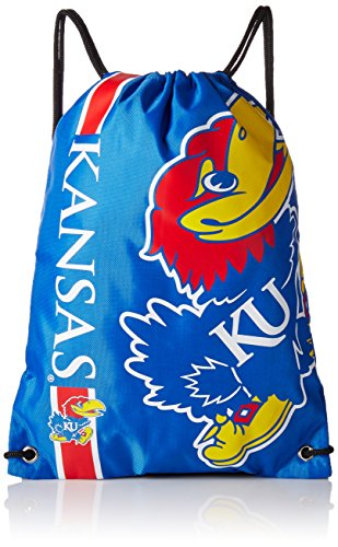 NCAA Kansas Jayhawks 2015 Drawstring Backpack, Blue (Kansas Jayhawks Backpack)