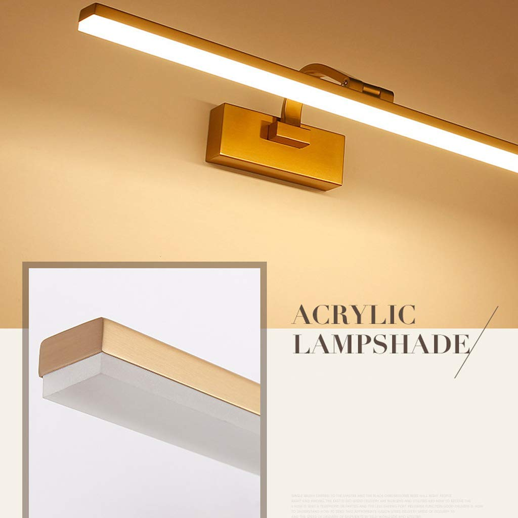 Modernes Badezimmer-Wand-Licht-Acrylspiegel-Vordere Justierbare Winkel-Verfassungs-Beleuchtung Wei/ßes Licht,XS SEEKSUNG Spiegellampen LED Badezimmer-Spiegel-Licht