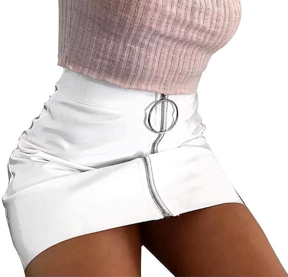 Minifalda Polipiel Corta para Mujer. Falda Sexy de Temporada ...