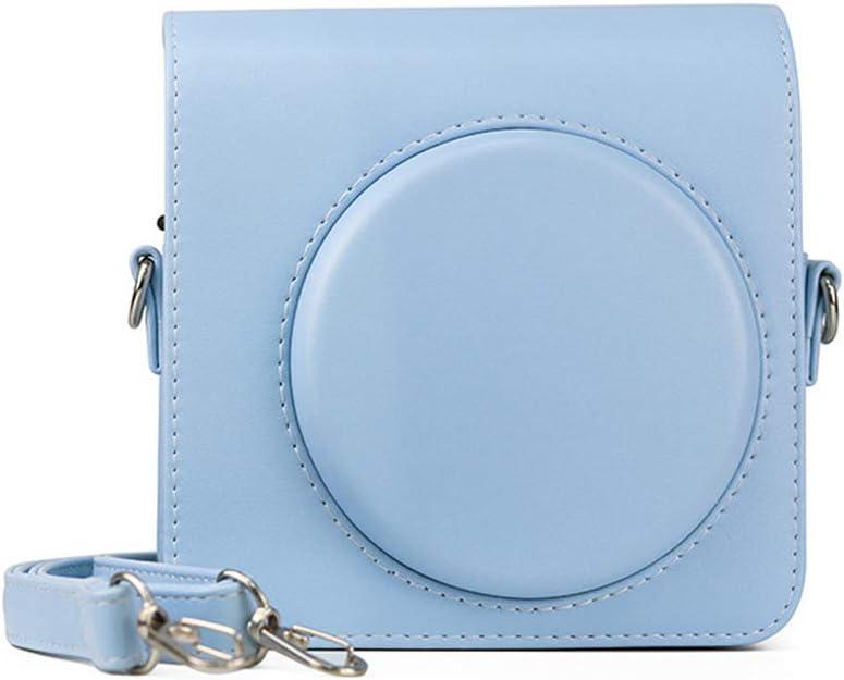 azul glaciar funda de piel con correa ajustable para el hombro Jinshen Funda protectora para c/ámara instant/ánea Instax Square SQ1
