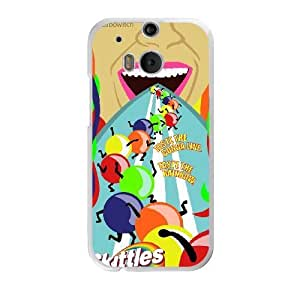 Fashion Style for HTC One M8 Cell Phone Case White Skittles Phone case MAP7619506