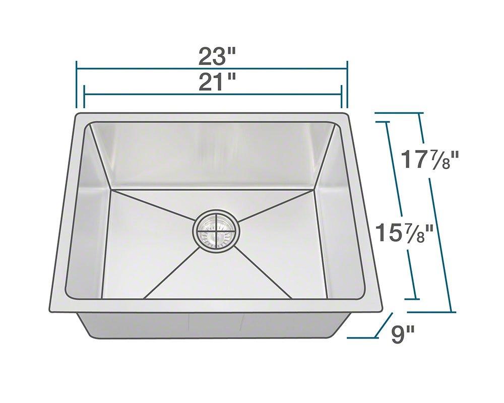 1823 18 Gauge Stainless Steel Kitchen Ensemble (Bundle - 3 Items: Sink, Basket Strainer, and Sink Grid)