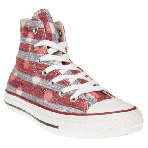 Converse Chuck Taylor All Star Striato Polka Dot Shoes - Varsity Red Athletic Red - UK 6