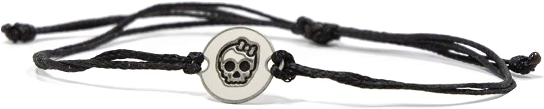Charms en acier inoxydable Good Luck sur Bracelet ajustable double cordon noir pour hommes et femmes Bijoux imperm/éables et hypoallerg/éniques