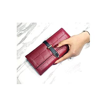 WEIFAN-wallet purse Billetera Larga para Mujer Multi-Card ...