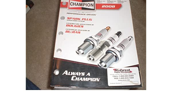 Champion Spark Plug Application Catalog: federal mogul corp.: Amazon.com: Books