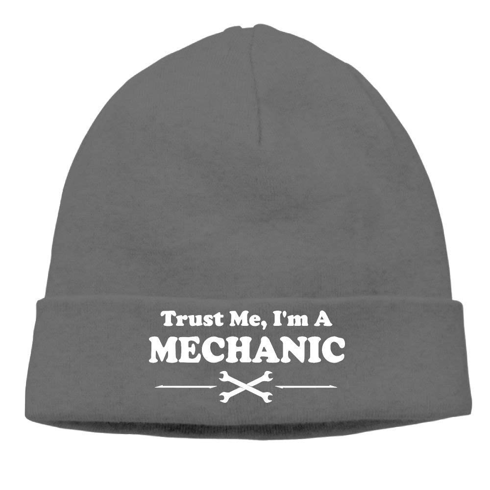 RGFJJE Trust Me, I'm A Mechanic Soft Knit Beanie Hat Warm Thick Winter Hat Men Trust Me, I'm A Mechanic Winter Warm Cap