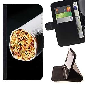 LG Magna / G4C / H525N H522Y H520N H502F H500F (G4 MINI,NOT FOR LG G4)Case , Cigarrillos Tabaco Negro minimalista de fumadores- la tarjeta de Crédito Slots PU Funda de cuero Monedero caso cubierta de piel