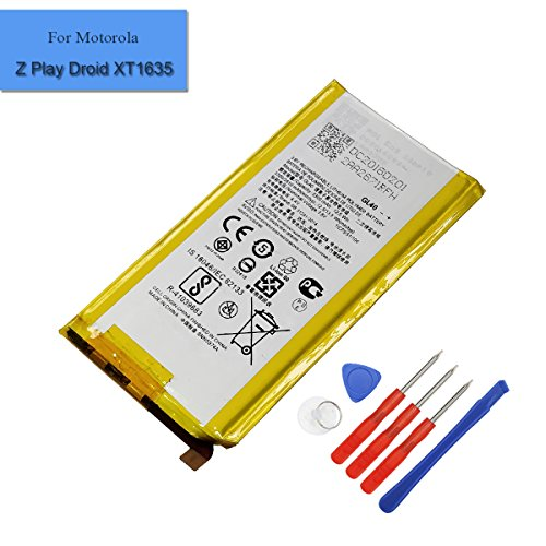 Replacement Li-ion Battery GL40 Compatible with Motorola Moto Z Play Droid XT1635 3300mAh 3.8V Internal Battery with Tools
