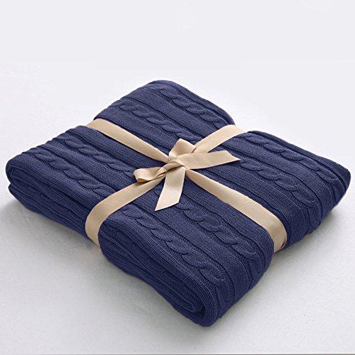 Navy Throw Blanket Amazon Amazing Navy Cotton Throw Blanket