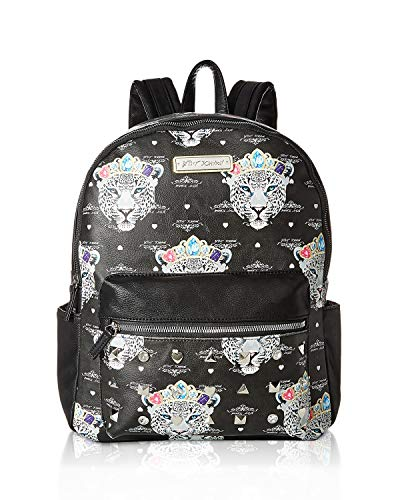 Betsey Johnson Snow Queen of the Jungle Print Backpack Black/Multi One Size
