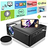 Mini Projector,ifmeyasi Home Theater Video Portable Projector with 1080P Supported, for Home Entertainment Video,Computer,Fire TV,Laptop,SD/DLAN/Android Phone Smartphone