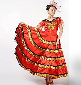 6d5886536b1a &qq Opening dance costumes. Spain bullfighting opening dance clothing. big  swing skirts the stage