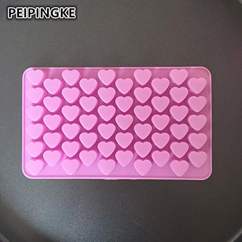 Chocolate Mold - 55 Super Mini Heart Shape Silicone Cake Mol