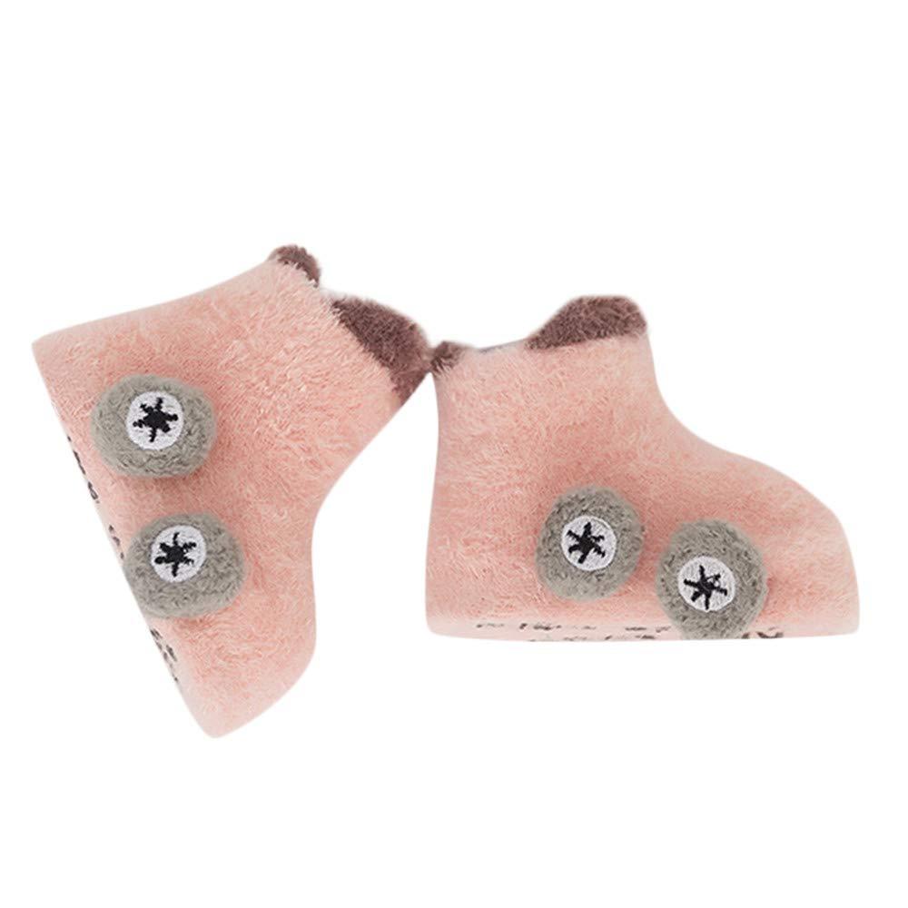 FEITONG Kids Infant Toddler Baby Boys Girls Cartoon Car Anti-Slip Warm Unisex Socks