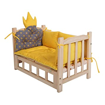 Casa de madera Ocultar para animales pequeños Nido de mascota nido de gato cama de madera