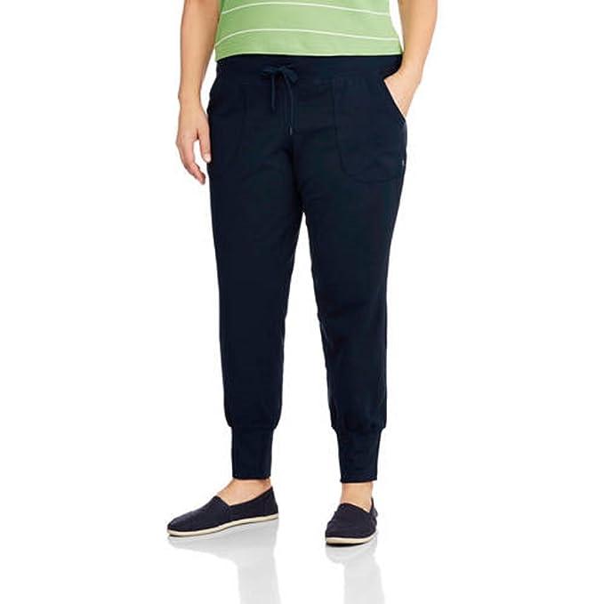 65a8325f46a4 Danskin Now Women's Plus Size Jogger Pants (1X, Navy) at Amazon ...