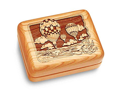 Heartwood Creations Music Box 4x3 - Hot Air Balloons - Claire de -