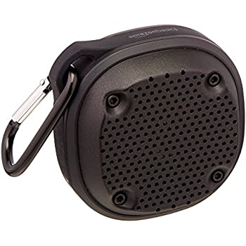 AmazonBasics Shockproof and Waterproof  Bluetooth Wireless Mini Speaker
