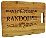 Kitchen & Housewares : Custom Cutting Board - Wood Engraved Cutting Board - Personalized Bamboo Cutting Board - Large Cutting Board
