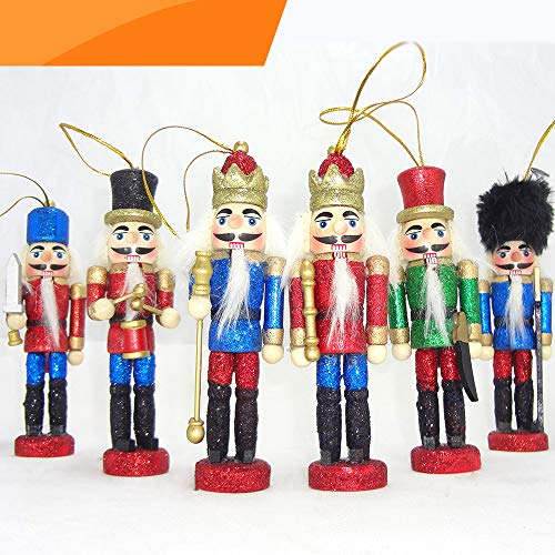 Christmas Ornaments Sale (Jolik 6 PCS Glittery Nutcracker Ornament Christmas Nutcracker Figures for Christmas)