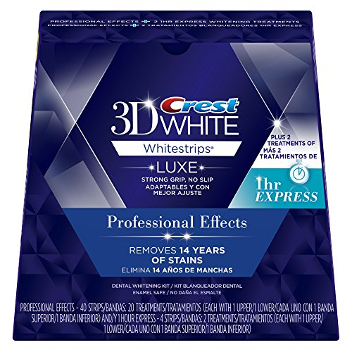 : Crest 3D White Professional Effects Whitestrips Dental Teeth Whitening Strips Kit, 20 Treatments + BONUS 1 Hour Express Whitening Strips, 2 Treatments - (PACKAGING MAY VARY)