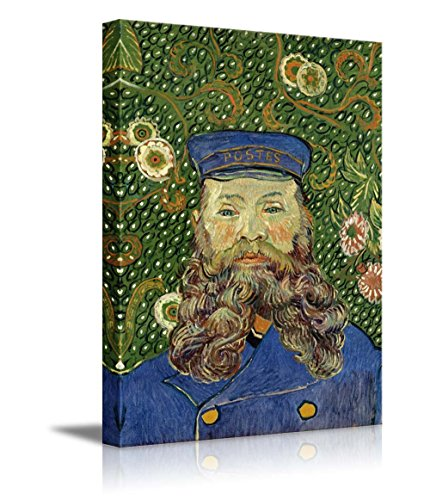 wall26 - Portrait of The Postman Joseph Roulin by Vincent Van Gogh - Canvas Print Wall Art Famous Oil Painting Reproduction - 12