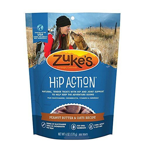 Zuke's Hip Action Natural Moist Dog Treats 6 Oz