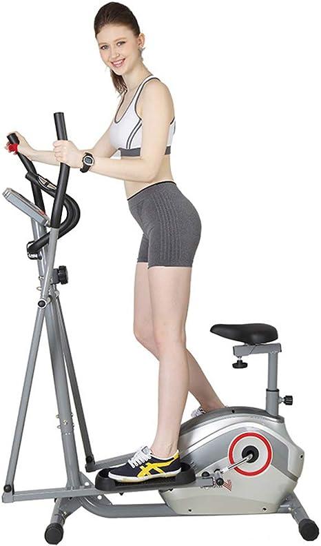 YXRPK Bicicleta Elíptica Estática Magnética, Cojín De Asiento Ajustable Desmontable, Sistema De Resistencia A Magnetrón, Prueba De Frecuencia Cardíaca Manual: Amazon.es: Deportes y aire libre