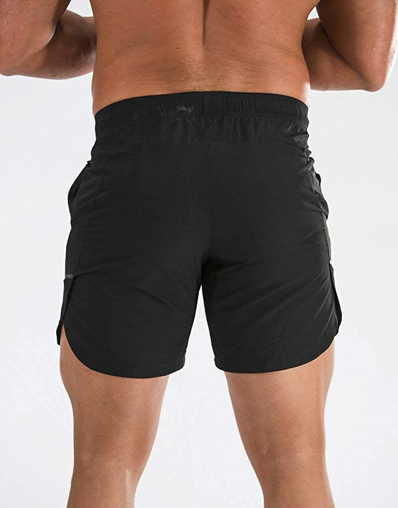 ECHT Black Fuse Shorts Fitted Running Workout Bodybuilding Active Light Weight with Pocket