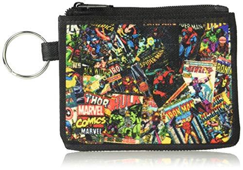 Buckle-Down Junior's Canvas Coin Purse Marvel Comics, Multicolor, 4.25