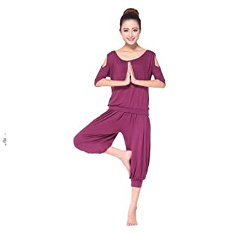 sakj-c 2 Piezas De Conjuntos De Yoga para Mujer Pantalones ...