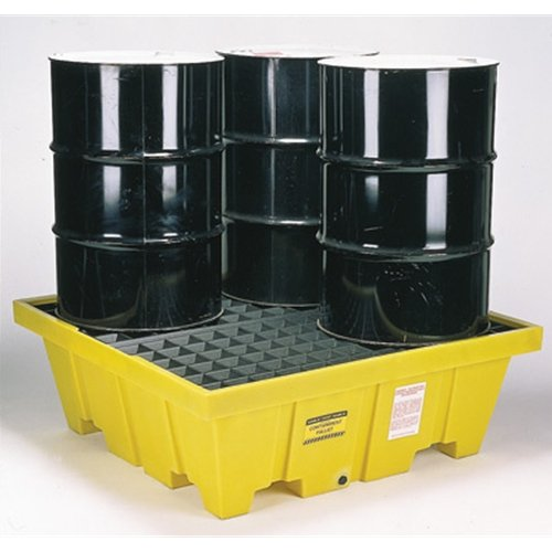 Eagle 1640 4 Drum Containment Spill Pallet, 8000 lbs Capacity, 52-51/128