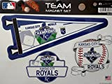 Kansas City Royals 2015 World Series Champions Multi Die Cut Magnet Sheet Auto Home MLB Baseball