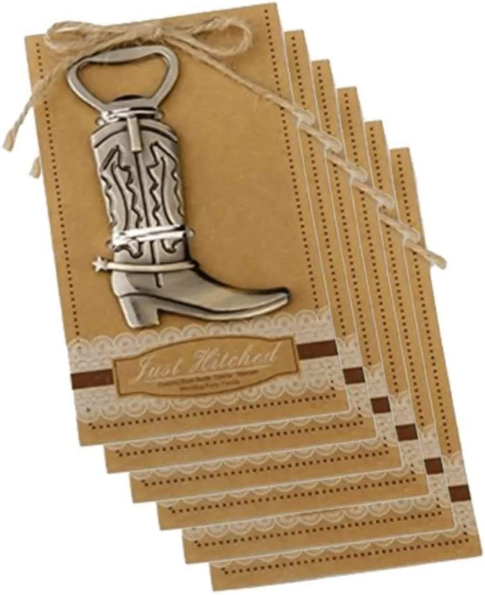 Stainless Steel Bottle Opener, 6-piece Cowboy Boot Bottle Opener Beer Accessories Vintage Metal Bottle Opener, Can Be Used for Wedding Party Gift Decorations.