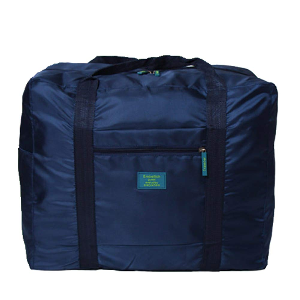 Foldable Travel Tote Duffel Bag Lightweight Travel Bag Weekend Waterproof Large Capacity Storage Luggage Organizer (Navy Blue) by Guyay (Image #1)