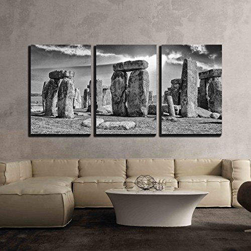 Stonehenge with Beautiful Sky x3 Panels