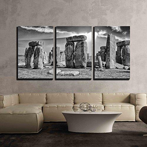Stonehenge with beautiful sky x3 Panels