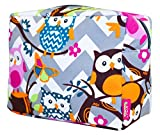 N. Gil Grey Chevron Owls Large Cosmetic Toiletry - Best Reviews Guide