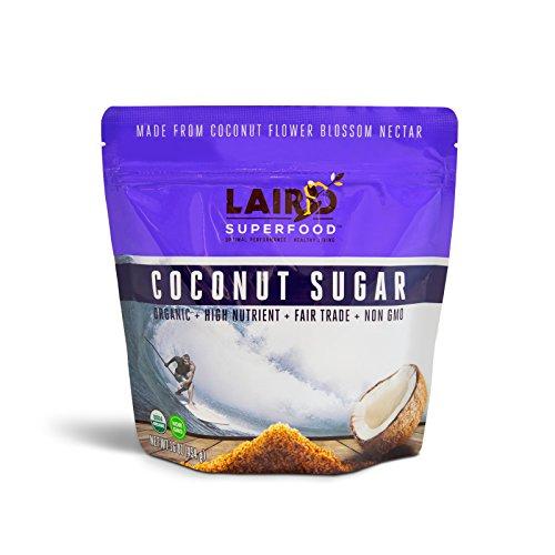 Laird Superfood Organic Coconut Sugar | Non-Dairy | Gluten Free | Vegan | Low Glycemic Natural Sweetener - 1 lb Bag